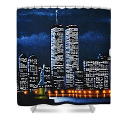 World Trade Center Buildings Shower Curtain