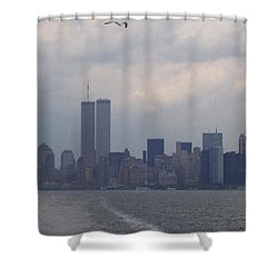 World Trade Center May 2001 Shower Curtain by Kenneth Cole