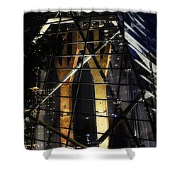 World Trade Center Museum At Night Shower Curtain