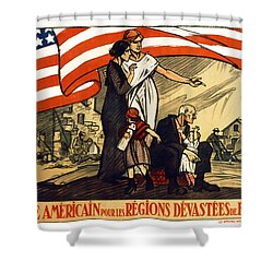 World War 1 Relief - France - 1917 Shower Curtain by Daniel Hagerman