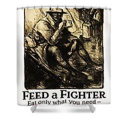 World War 1 - U. S. War Poster Shower Curtain by Daniel Hagerman