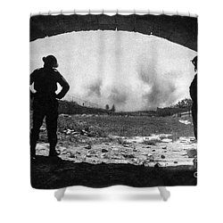World War 2 Shower Curtain by Brian Roscorla