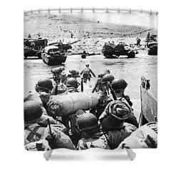 World War II: D-day, 1944 Shower Curtain by Granger
