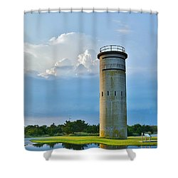 World War II Lookout Tower - Tower Road - Delaware State Park Shower Curtain