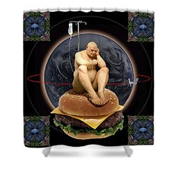 World Wide Shower Curtain