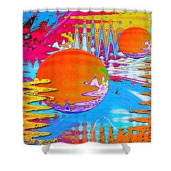 Worlds Apart Shower Curtain