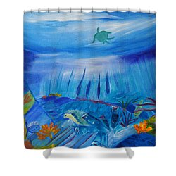 Worlds Below The Sea Shower Curtain