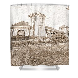 World's Fair Pavilion At Forest Park St Louis Shower Curtain