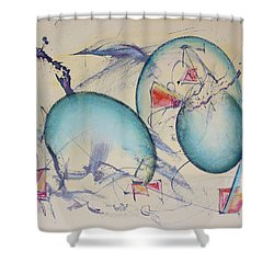Worlds In Genesis Shower Curtain