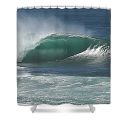 World's Most Perfect Wave . . . Shower Curtain by Kevin Smith