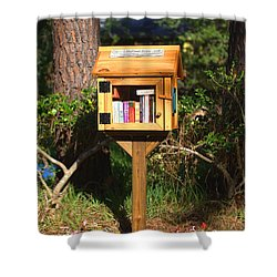 Shower Curtain featuring the photograph World's Smallest Library by Gordon Elwell