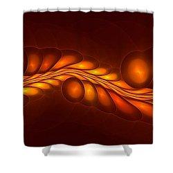Worm Sign Orange Shower Curtain