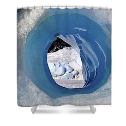 Wormhole 2 Shower Curtain by Cathy Mahnke