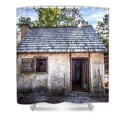 Wormsloe Cabin Shower Curtain