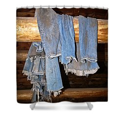 Shower Curtain featuring the photograph Worn Out At The End Of The Day by Sue Smith