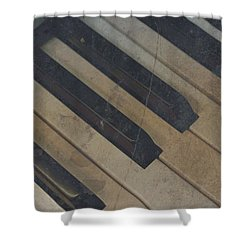 Shower Curtain featuring the photograph Worn Out Keys by Photographic Arts And Design Studio