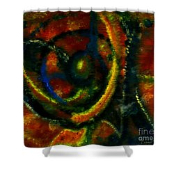 Worship In Movement Shower Curtain by Leanne Seymour