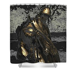 Worth Their Weight In Gold Shower Curtain by Natalie Ortiz