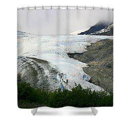 Shower Curtain featuring the photograph Worthington Glacier by Betty-Anne McDonald