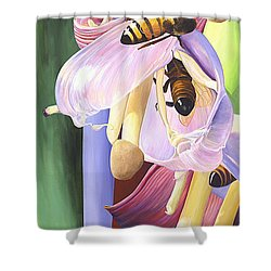 Shower Curtain featuring the painting Wounded by AnnaJo Vahle