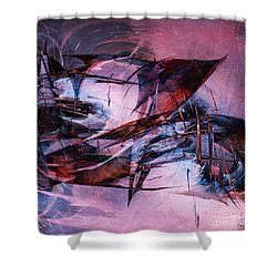 Wounded Sharks Shower Curtain by Klara Acel