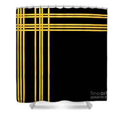 Woven 3d Look Golden Bars Abstract Shower Curtain by Rose Santuci-Sofranko