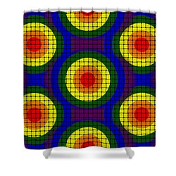 Woven Circles Shower Curtain by Bartz Johnson