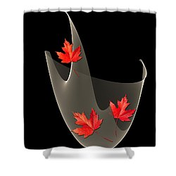 Woven Maple Leaves Shower Curtain