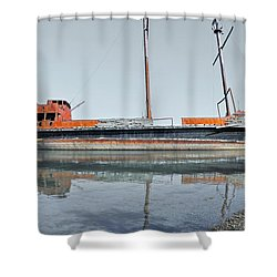 Wreck Reflection Shower Curtain