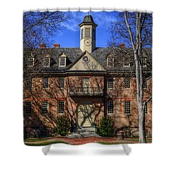 Wren Building Main Entrance Shower Curtain by Jerry Gammon