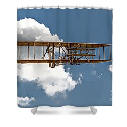 Wright Brothers First Flight Shower Curtain by Randy Steele