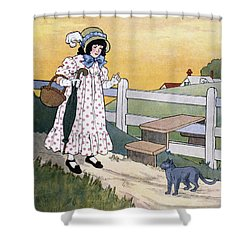 Wright: Pussy Cat Shower Curtain by Granger