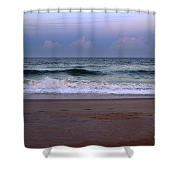 Wrightsville Sunset Waves Shower Curtain