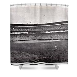 Wrigley Field 1929 Panorama Shower Curtain by Benjamin Yeager