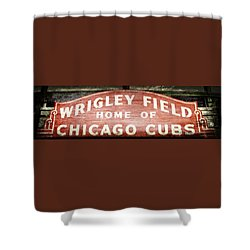Wrigley Field Sign - No.2 Shower Curtain
