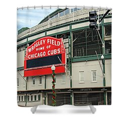 Wrigley Field Shower Curtain by Skip Willits