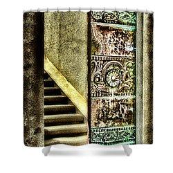 Wrigley's Tower Bronze Doors By Diana Sainz Shower Curtain