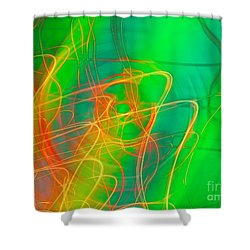 Write Light Rainbow Shower Curtain