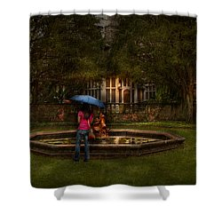 Writer - Wating For Him  Shower Curtain by Mike Savad