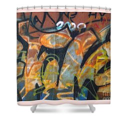 Writing On The Wall 1 Shower Curtain by Sara  Raber