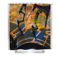 Writing On The Wall 3 Shower Curtain by Sara  Raber