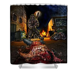 Wrong Turn Shower Curtain