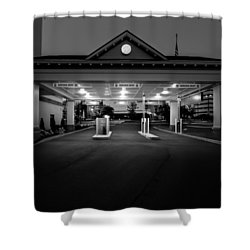 Wrong Way Shower Curtain by Bob Orsillo