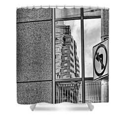 Wrong Way Shower Curtain by Dan Sproul
