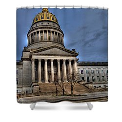 Wv Capital Building 2 Shower Curtain by Jonny D