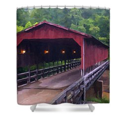 Wv Covered Bridge Shower Curtain