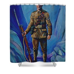 Ww 1 Soldier Shower Curtain by Derrick Higgins