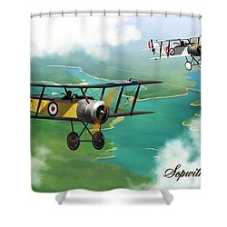 Ww1 British Sopwith Scout Shower Curtain