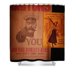 Ww1 Recruitment Posters Shower Curtain