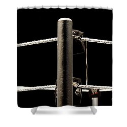 Wwe Ringside Shower Curtain by Paul  Wilford